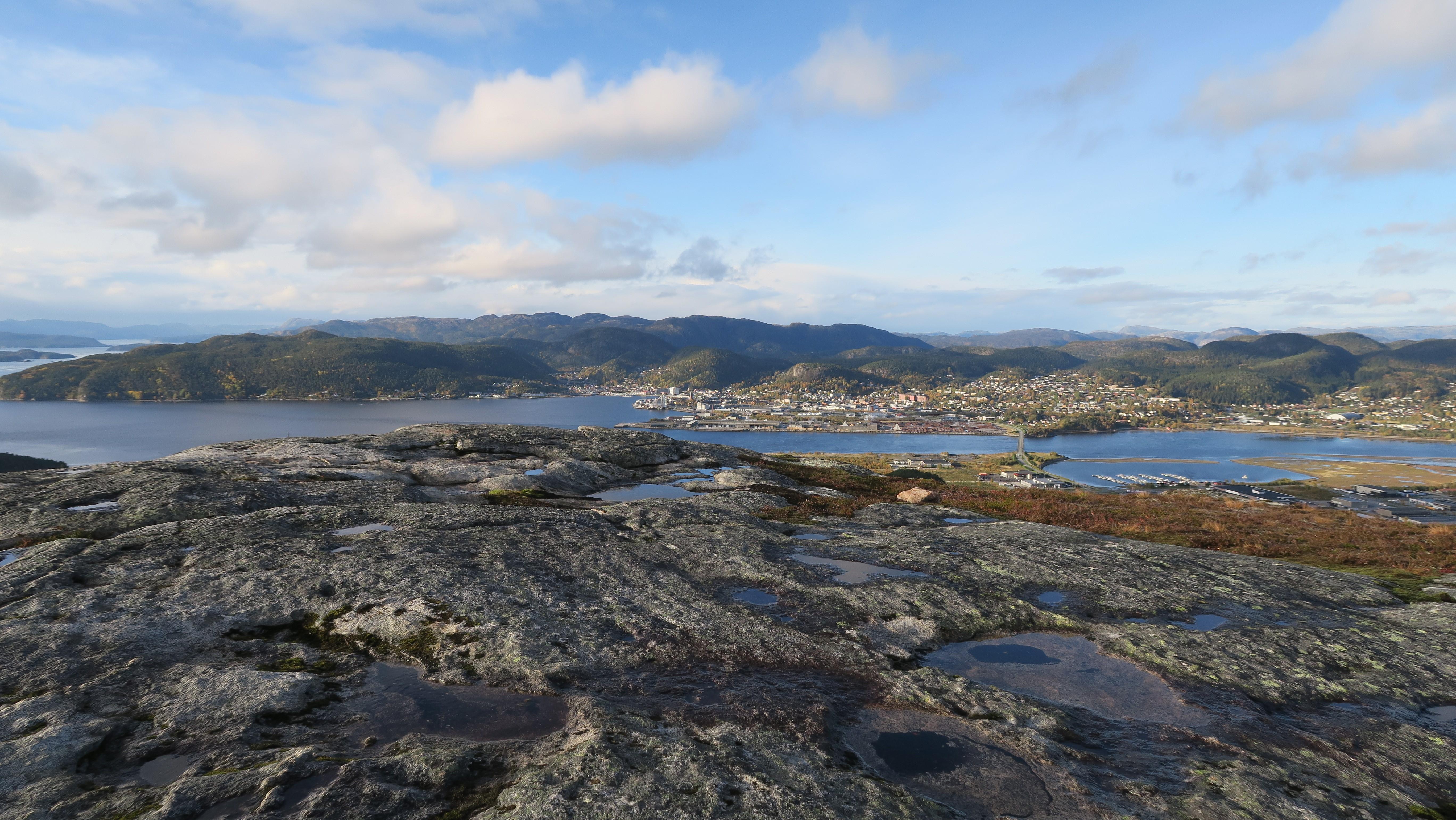 Utsikt fra Spillumsaksla mot Namsos