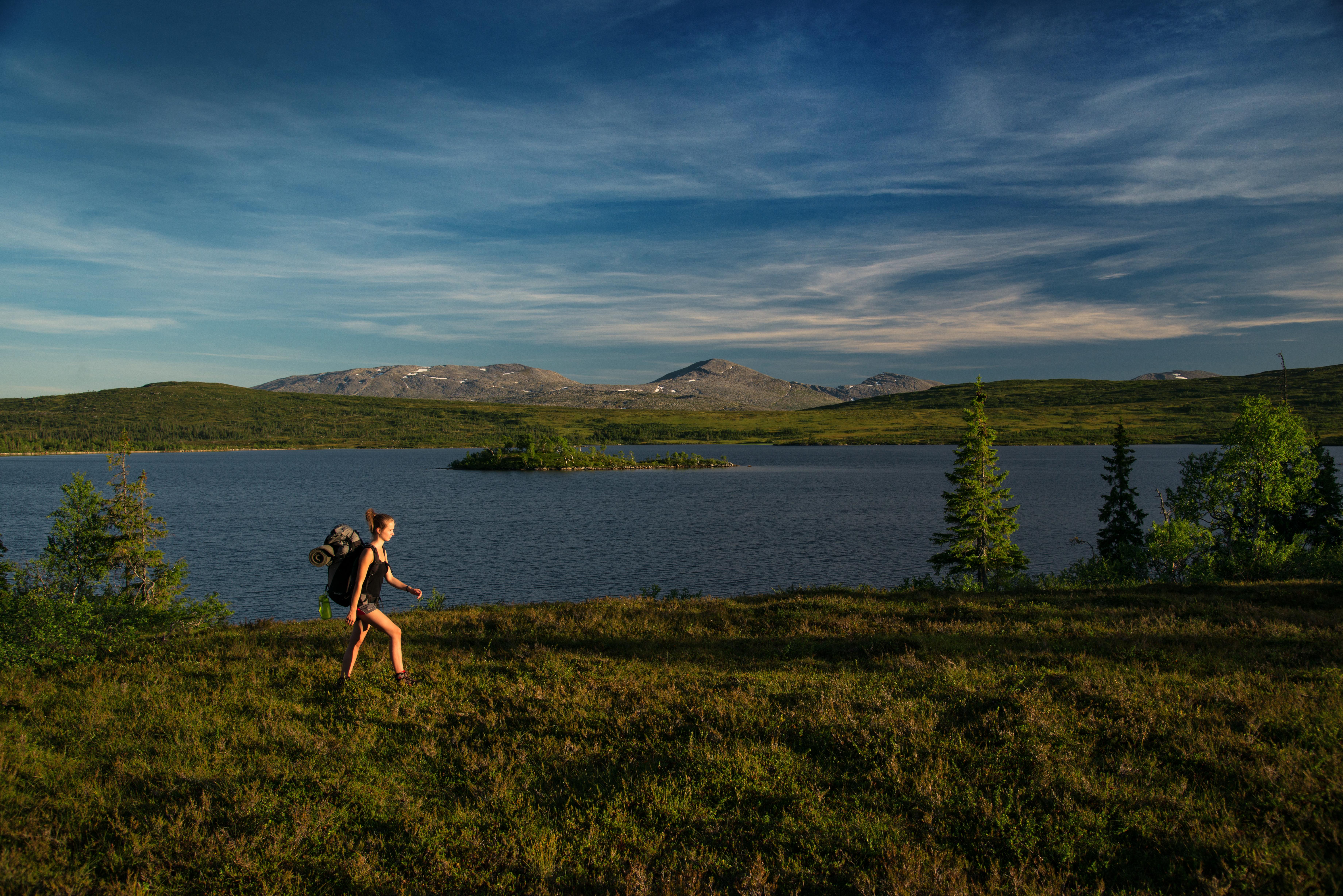 Lakavatnet i Blåfjella-Skjækerfjella. Lierne kommune, Namdalen, Trøndelag. Foto: Bernartwood/trondelag.com