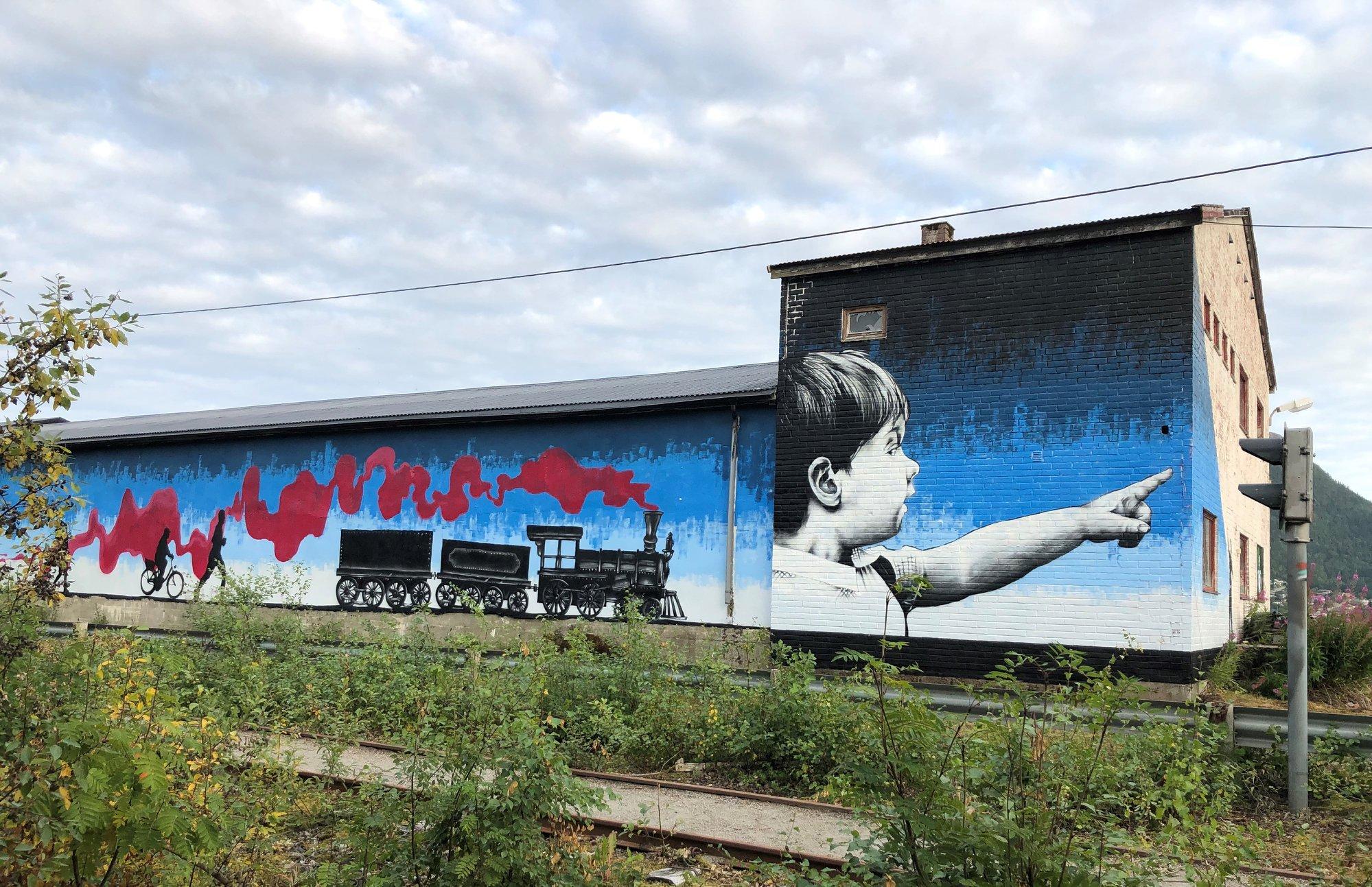 Kunstverk i Namsos, Togtraseen. Foto: Yvonne Antonsen