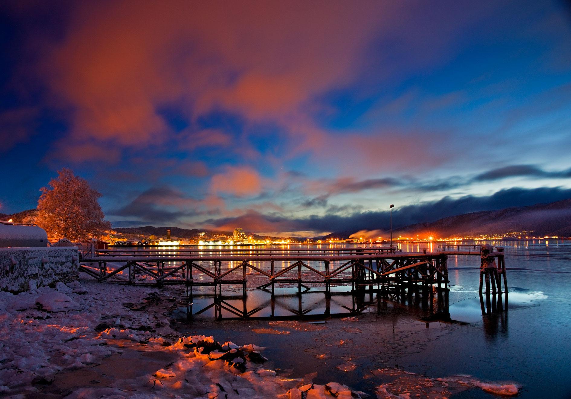 Vinter i Namsos. Foto: Steinar Johansen
