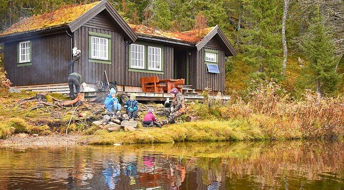 Hyttetur i Namsskogan. Foto: Kristin Smestad / Namsskogan Fjellstyre